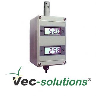 Transmissor de Temperatura e Umidade Relativa VTIUT-A